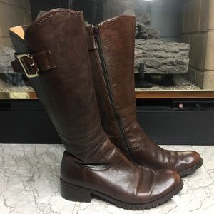 Anthropologie Biviel Brown Leather Boots